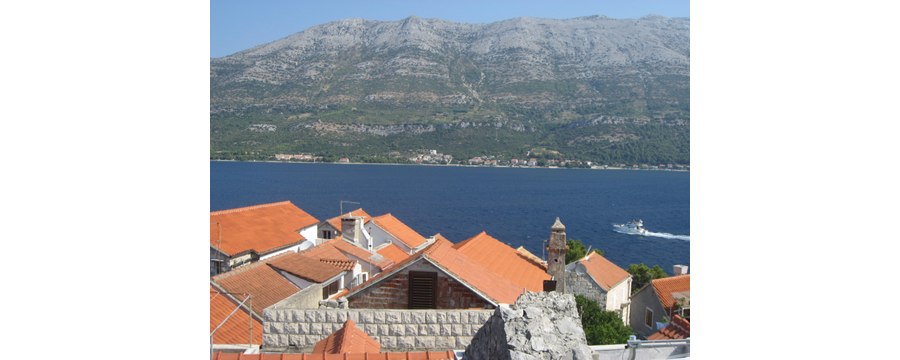 View of Perna from Korcula